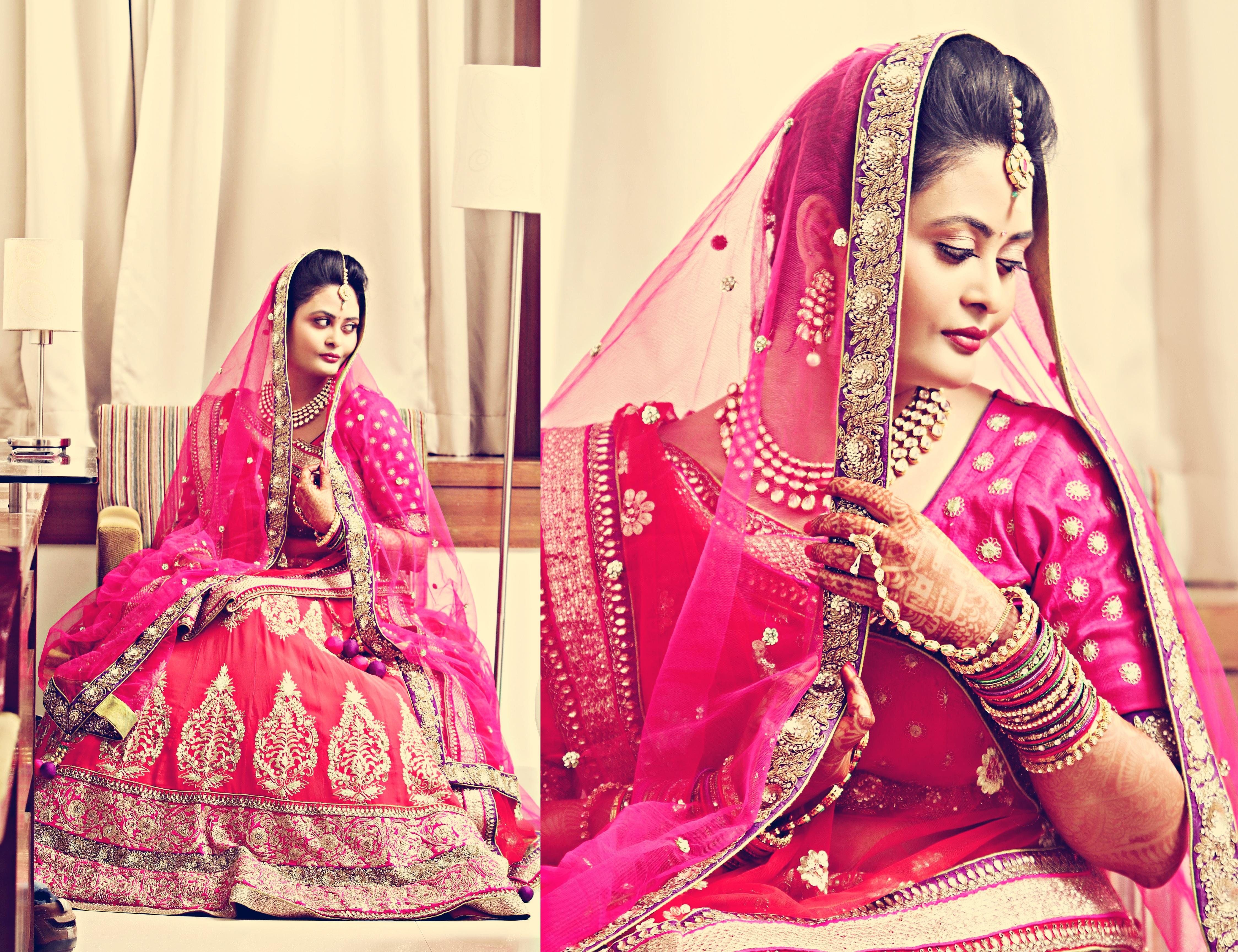 Wedding Photoghraphy in Patna, Blushing Bride