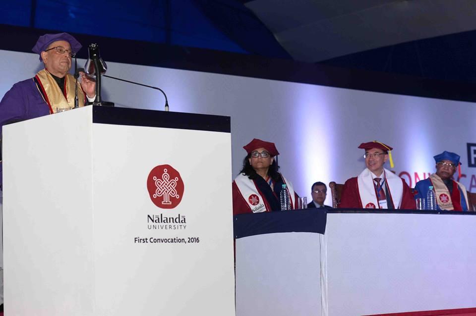 President Pranab Mukherjee's speech at the first convocation of Nalanda University