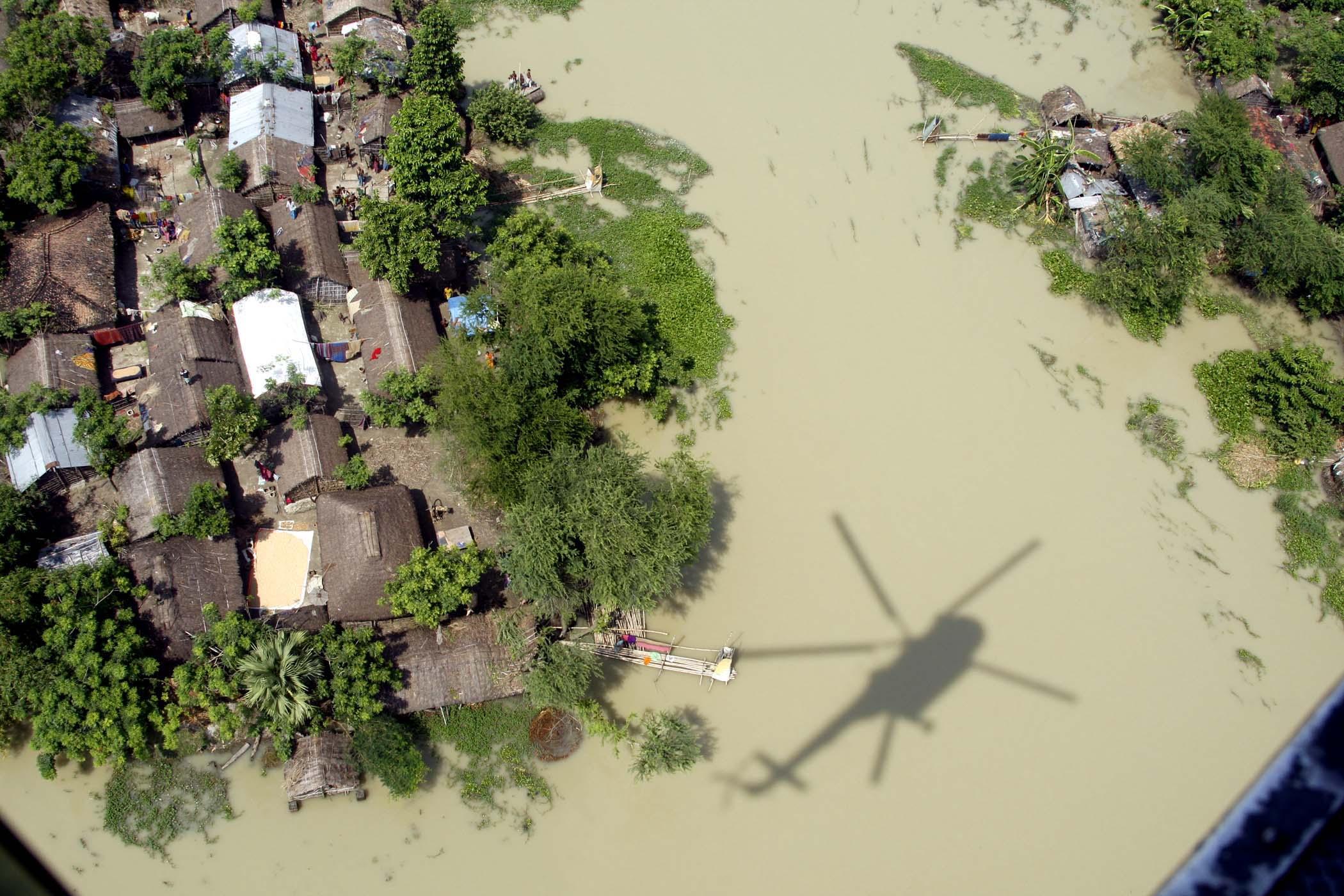 Image result for patna floods satellite images