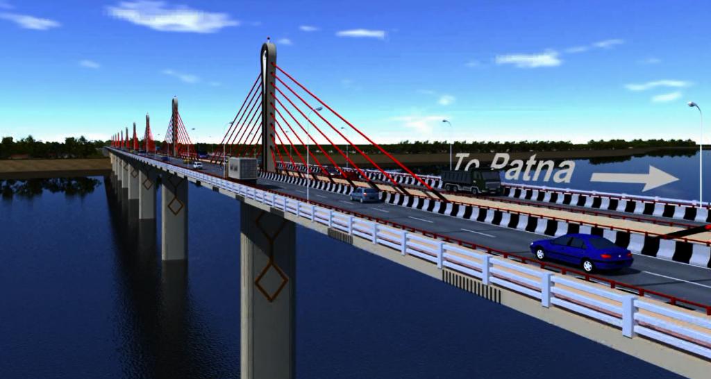 9.8 km long bridge on Ganga near Patna to connect North and South Bihar