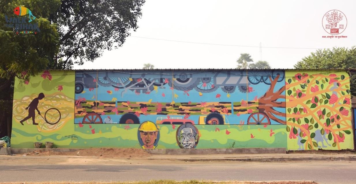 Walk for Bihar, Art, Patna