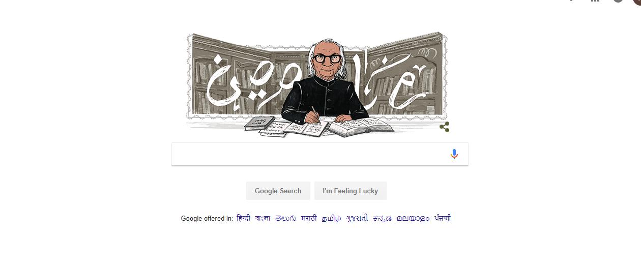 Abdul Qavi Desnavi, google doodle