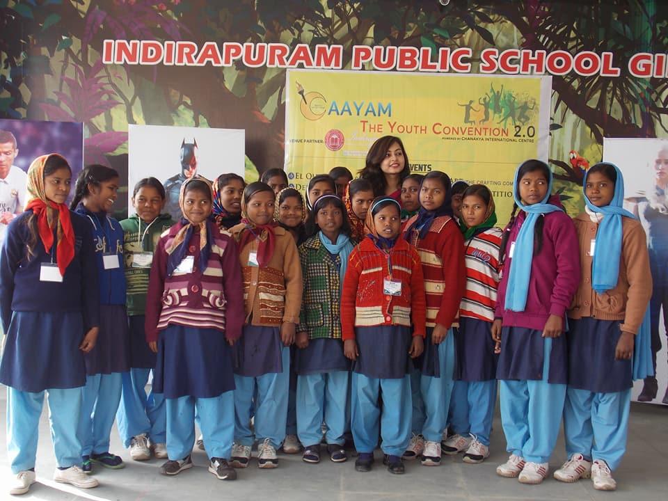 Fundraiser for Nandani's eyes at the Indirapuram Public School for Girls by Aayam