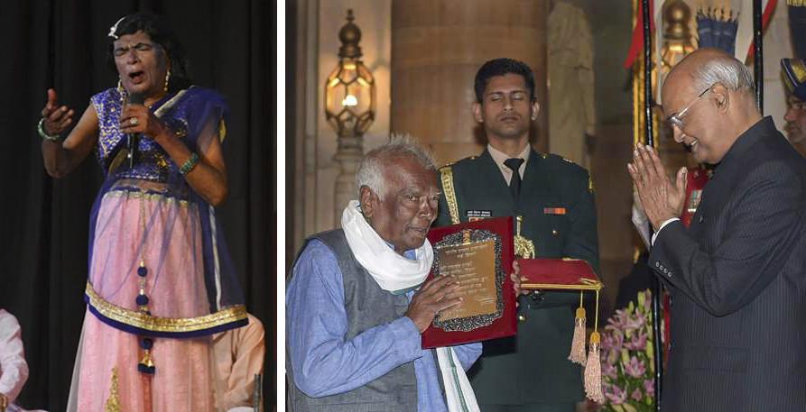 Ramchandra Manjhi, Bihar's legendary Naach artist received Sangeet Natak Akademi Award