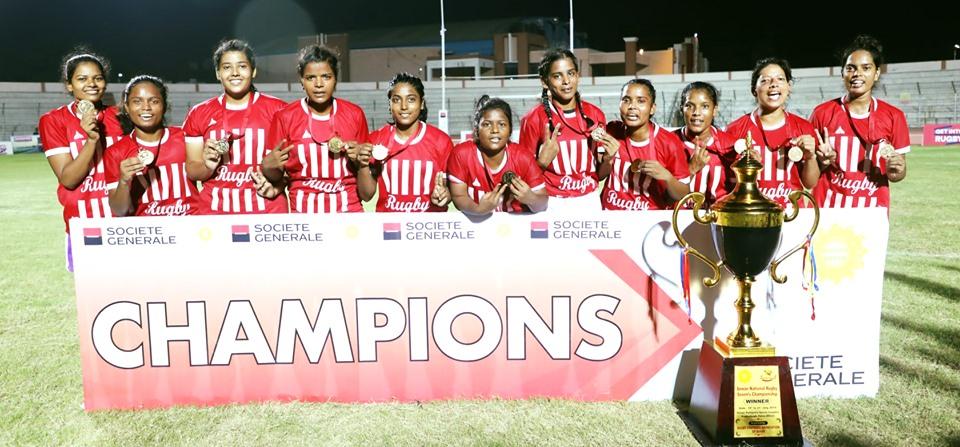 Bihar Women Rugby Team wins Senior National Rugby 7's Championship