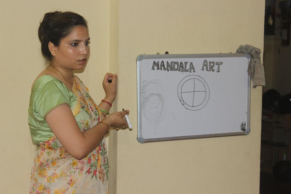 mandala art , with love, mental health