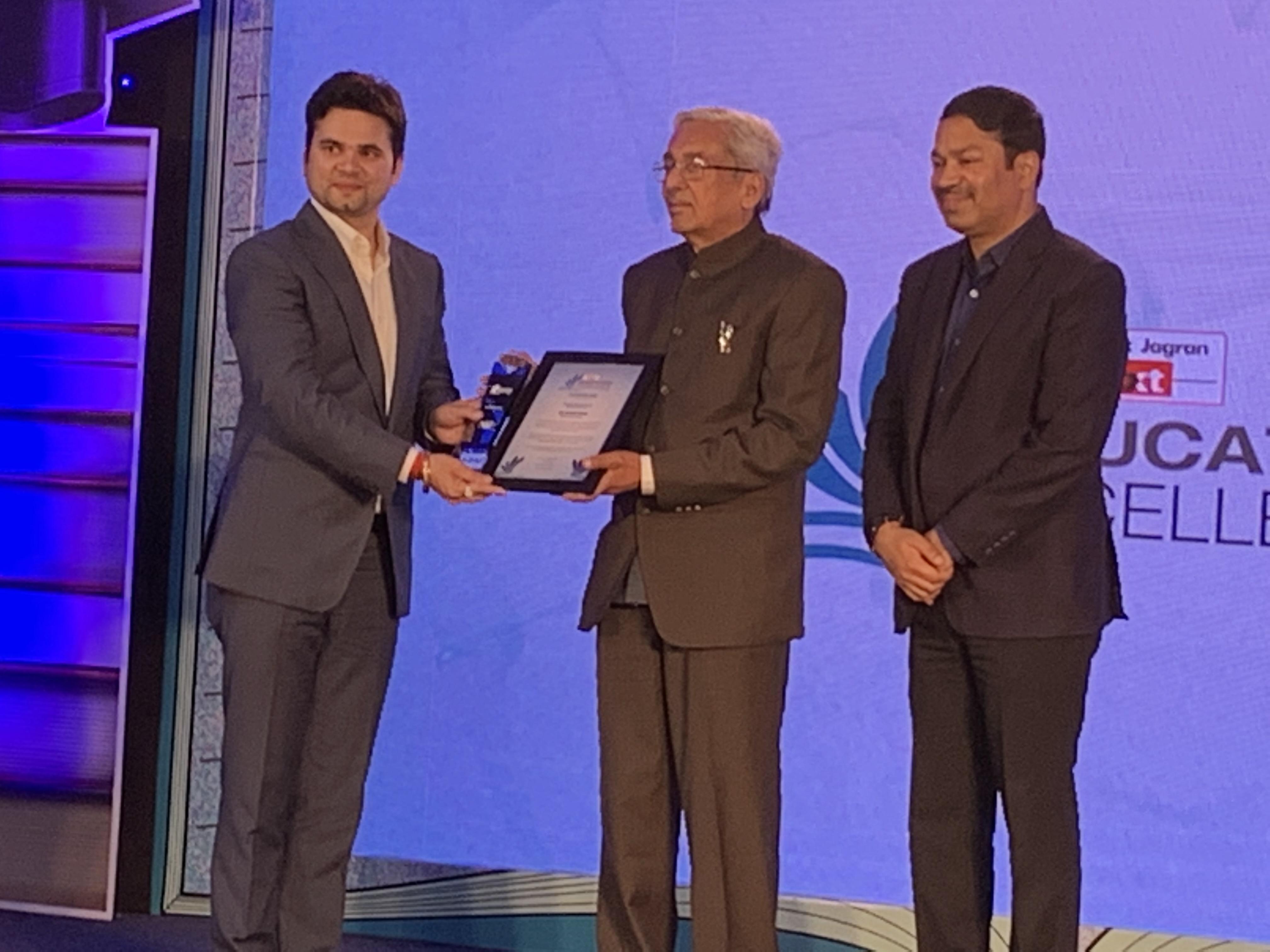 Award from Padmshree Dr. J S Rajput