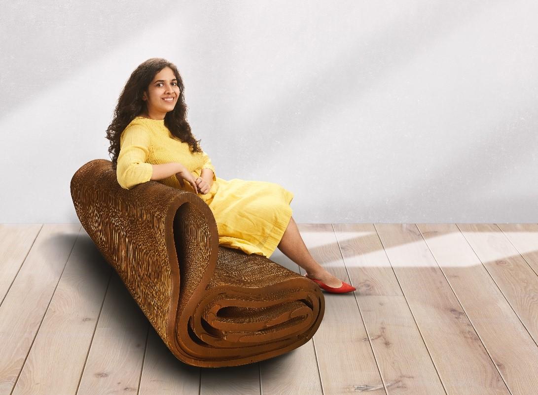 Meet Bandana Jain, who is making stylish furniture out of cardboard